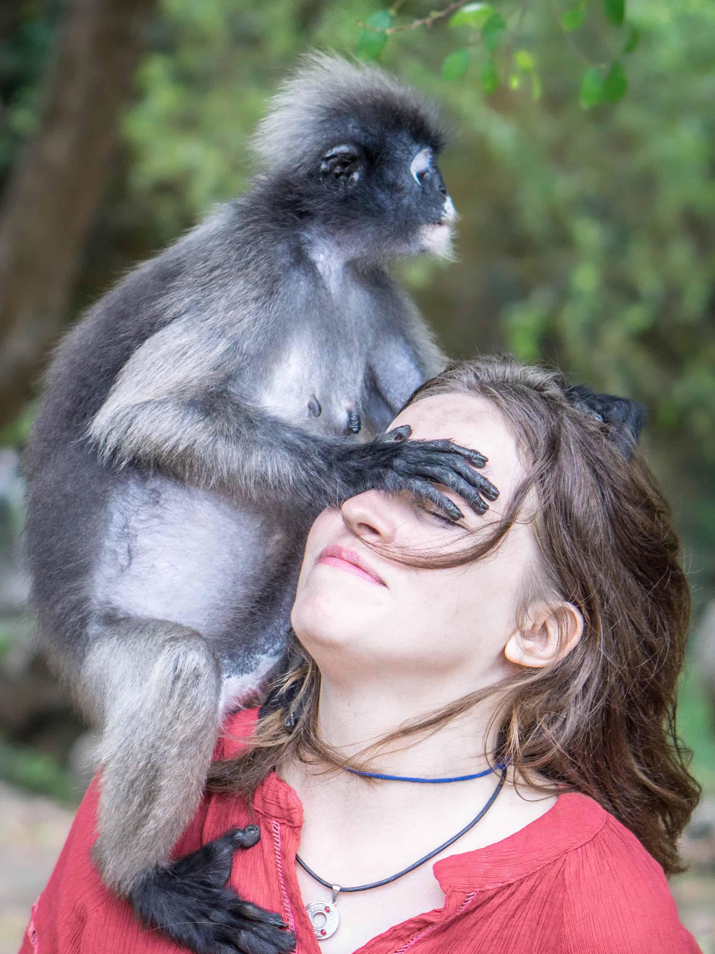 Making friends in Thailand.