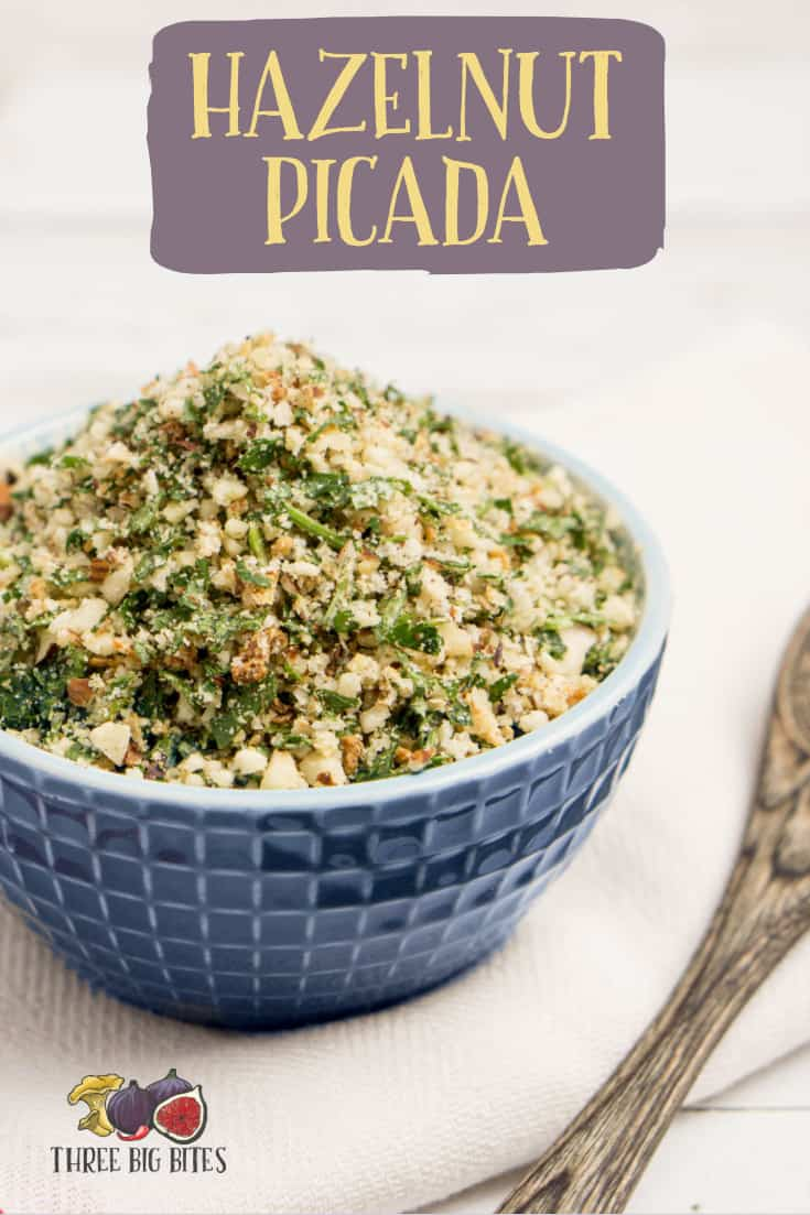 Learn to make delicious hazelnut picada from scratch! This elegant homemade condiment is perfect on a variety of dishes, and I particularly love it on pizza. || recipe components | homemade condiments | condiments from scratch | cooking from scratch | hazelnut picada | hazelnut recipes || #hazelnuts #fromscratch #recipes #cooking
