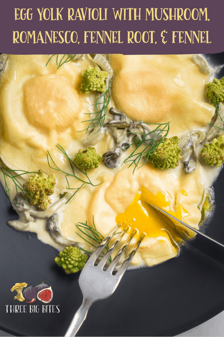 Try these amazing egg yolk ravioli for an unforgettably elegant appetizer or main dish! While they're labor-intensive, they're definitely worth every minute. || egg yolk ravioli | recipes with pasta and mushrooms | ravioli ideas | ravioli recipes || #ravioli #runnyyolk #elegantpasta