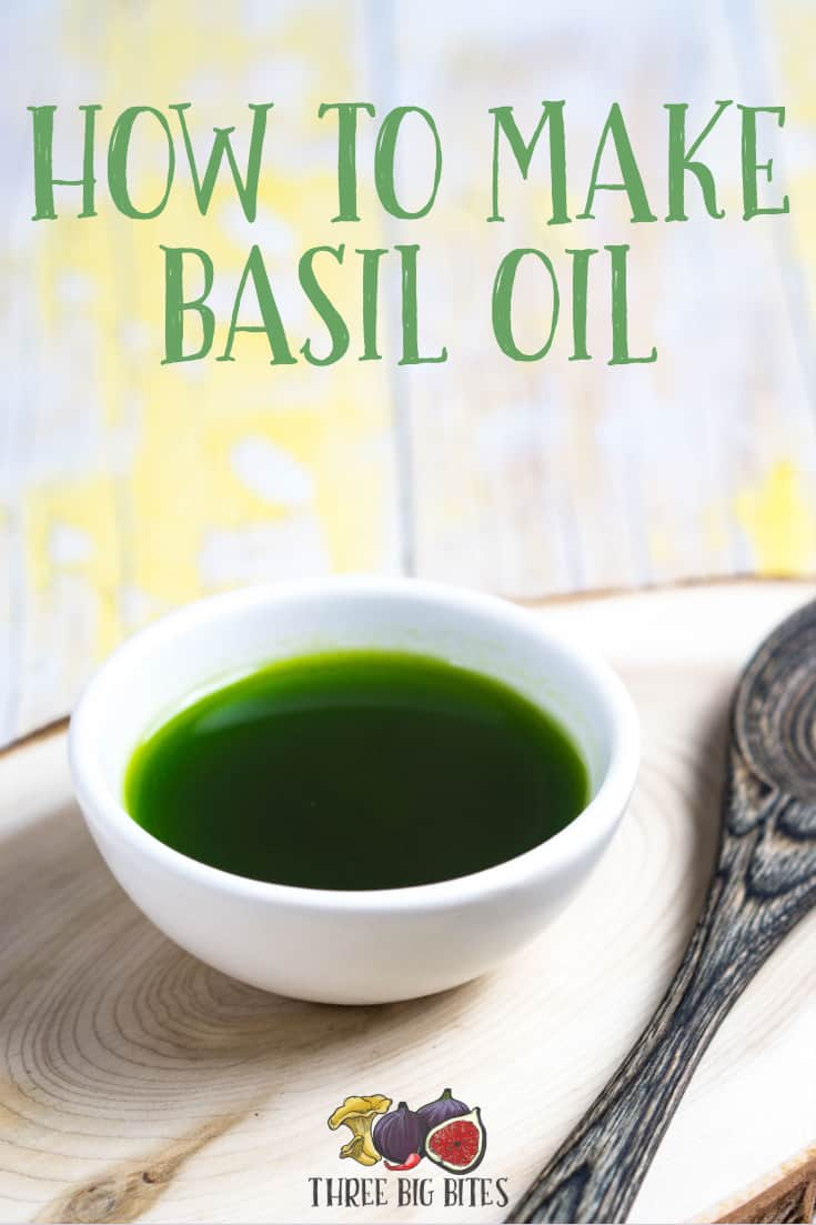 Learn how to make basil oil, an amazing flavored oil and recipe component! | homemade condiments | flavored oil | homemade flavored oil | how to make basil oil | how to make flavored oils | flavored oil tutorial | cooking tutorial | how to cook || #basil #flavoredoil #cookingtutorials